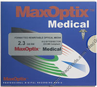 MaxOptix Medical 2.3 GB MO Disk R/W