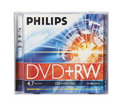 Philips 4.7 GB DVD+RW in j/c
